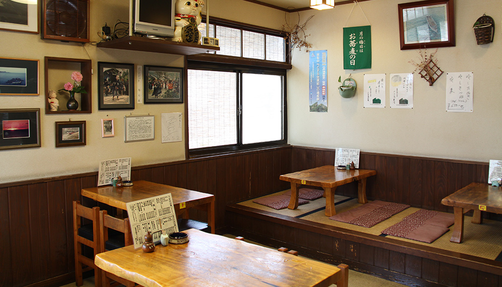 Serves soba and udon noodles and bowl dishes. Popular with both locals and tourists.