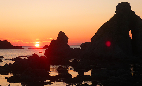 Sunset view from Nanaura Coast