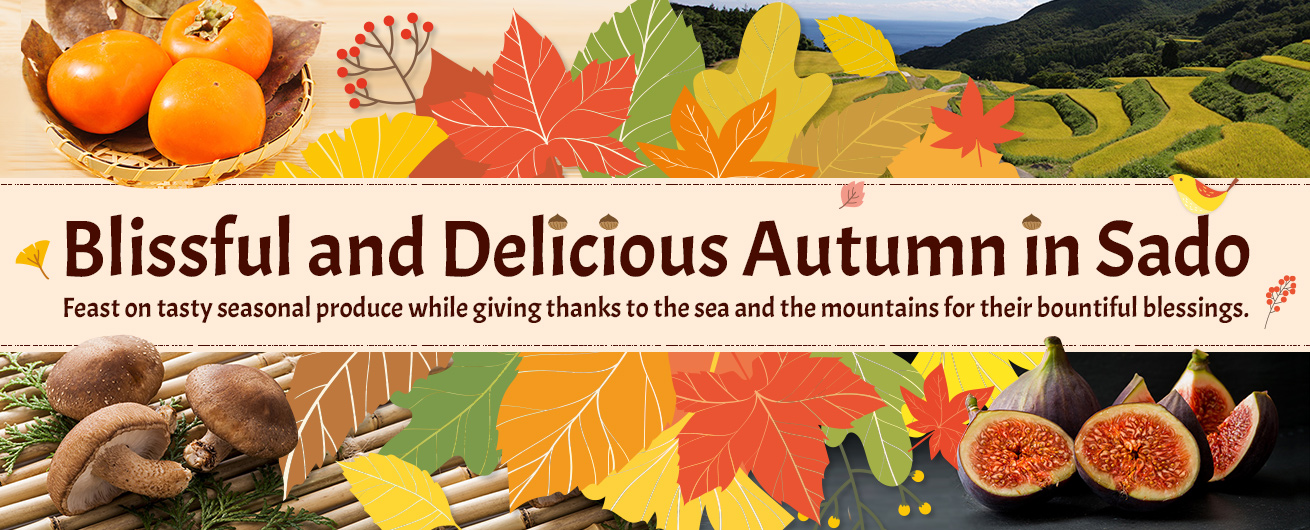 Autumn in Sado: Enjoy the tasty seasonal produce!