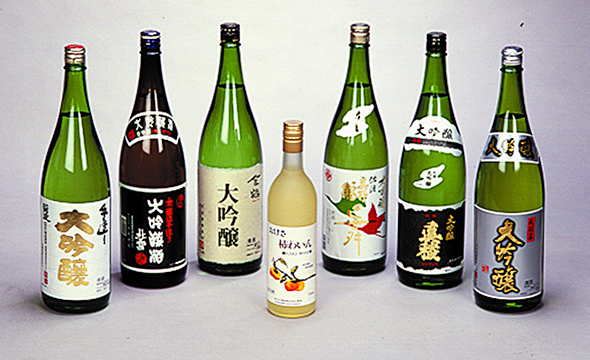 A variety of local sake, Sado's pride