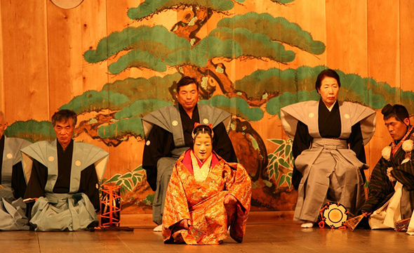 Rare and valuable Sagiryu Kyogen performance